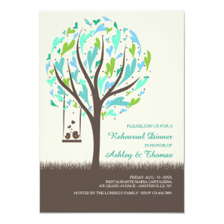 Lovebirds On A Swing Invitation