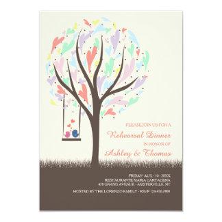 Lovebirds On A Swing Pastel Invitation