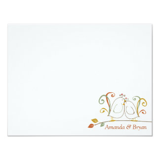 Lovebirds on Branches Stationery Notecards