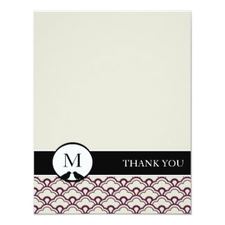 Lovebirds Personalized Thank You Cards (Two-Sided)