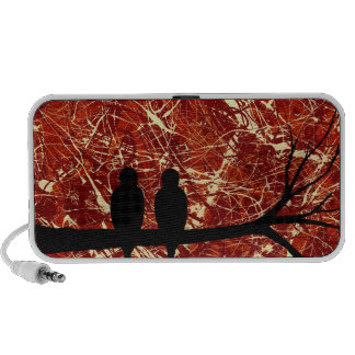 LOVEBIRDS REMAINS OF THE DAY bird design Travelling Speakers