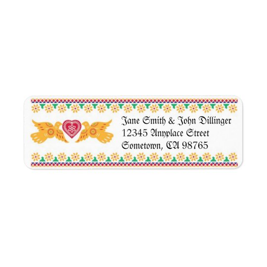 Lovebirds Return Address Label