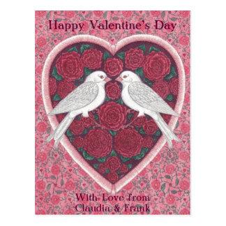 Lovebirds Valentine Postcard