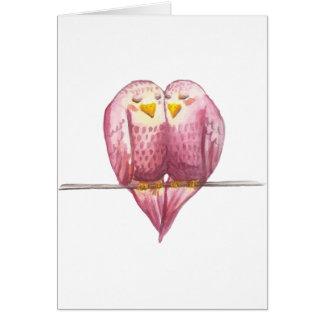 Lovebirds Valentine's Day Original Watercolor Card