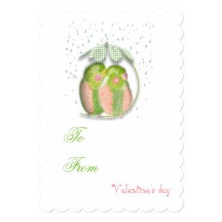 Lovebirds Valentine's Love invitation. Card