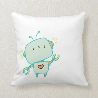 Lovebot Darling Robot Graphic iPhone Case Throw Pillow