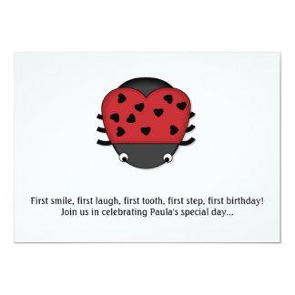 LoveBug 1st Birthday Invitation