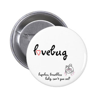 lovebug 2 inch round button