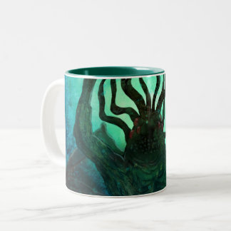 Lovecraft Cthulhu Mythos Wraparound Art Two-Tone Coffee Mug