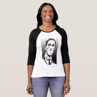 Lovecraft Portrait, Lovecraft shirt, baseball tee