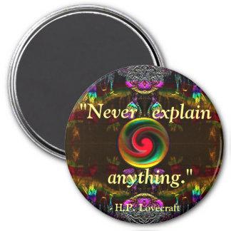 Lovecraft Quote Fantasy Art Magnet