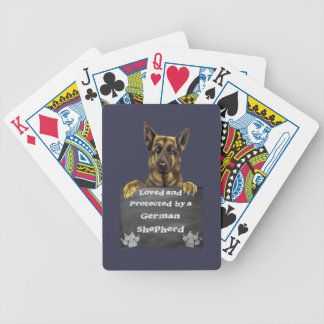Loved and Protected by a German Shepherd Bicycle Playing Cards