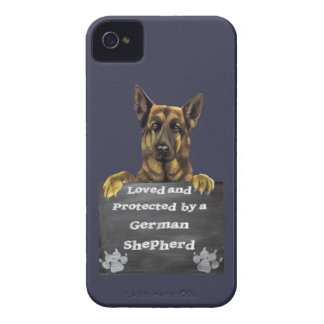 Loved and Protected by a German Shepherd Case-Mate iPhone 4 Case
