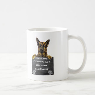 Loved and Protected by a German Shepherd Coffee Mug