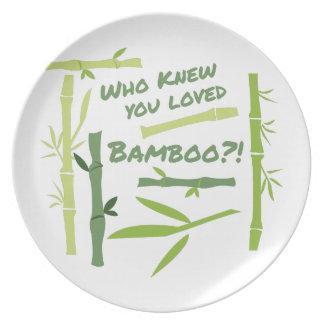 Loved Bamboo Dinner Plate