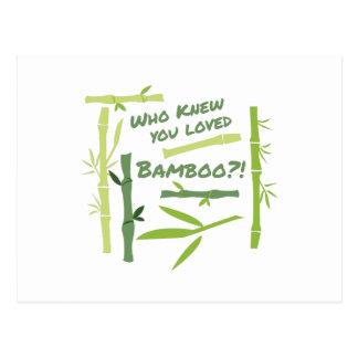 Loved Bamboo Postcard