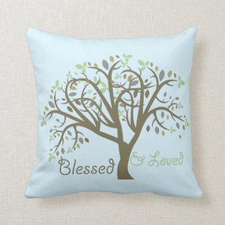 Loved & Blessed accent pillow. Throw Pillow