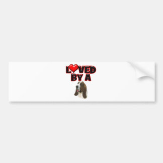 Loved by a Bassett Hound Bumper Sticker