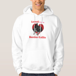 Loved by a border collie valentine shirt