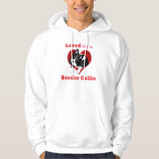 Loved by a border collie valentine shirts