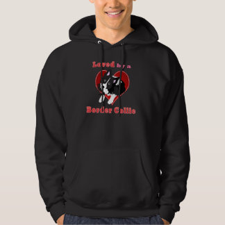 Loved by a border collie vector art shirts