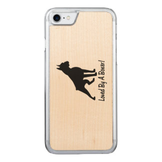 Loved by a Boxer Carved iPhone 7 Case