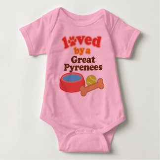 Loved By A Great Pyrenees (Dog Breed) Baby Bodysuit