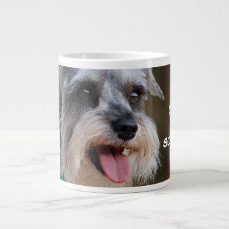 Loved by a Miniature Schnauzer Large Coffee Mug