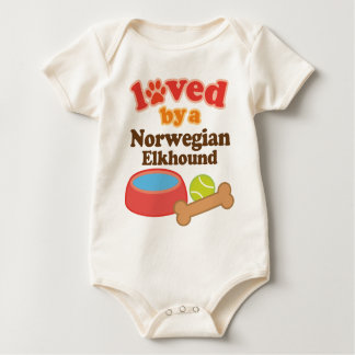 Loved By A Norwegian Elkhound (Dog Breed) Baby Bodysuit