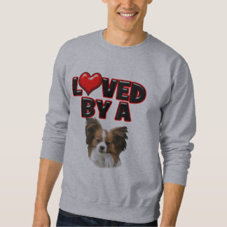 Loved by a Papillon Sweatshirt