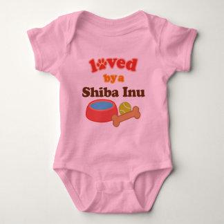Loved By A Shiba Inu (Dog Breed) Baby Bodysuit
