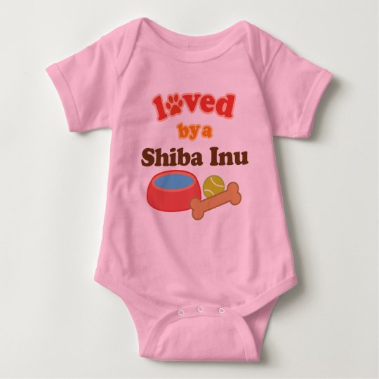 Loved By A Shiba Inu (Dog Breed) Baby Bodysuit