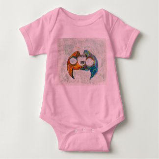 Loved by all pink baby onesy baby bodysuit