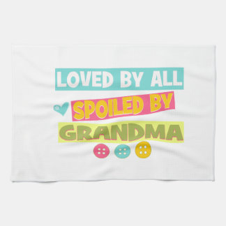 Loved By all spoiled By Grandma Kitchen Towel