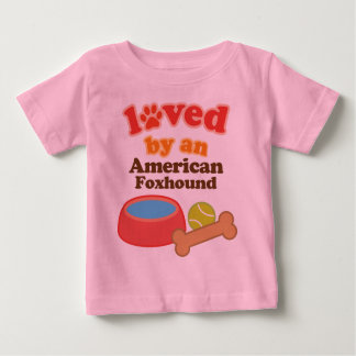 Loved By An American Foxhound (Dog Breed) Baby T-Shirt
