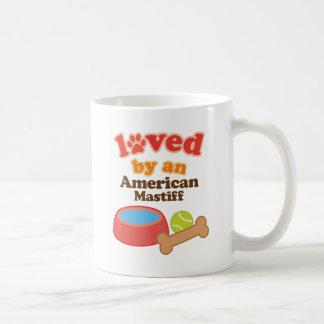 Loved By An American Mastiff (Dog Breed) Coffee Mug