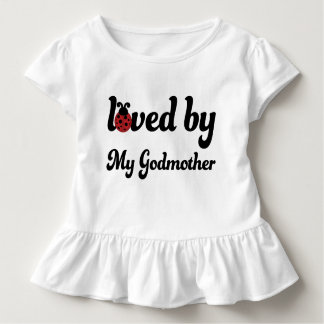 Loved By My Godmother ladybug toddler girls tee