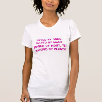 loved by some, hated by many, envied by most, y... t-shirt