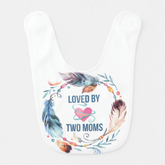 Loved By Two Moms Bohemian Baby Bib
