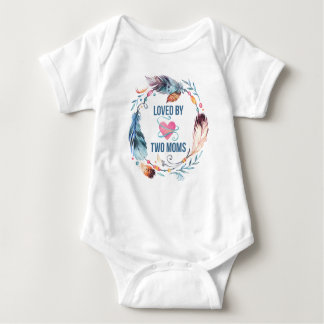 Loved By Two Moms Bohemian Baby Bodysuit