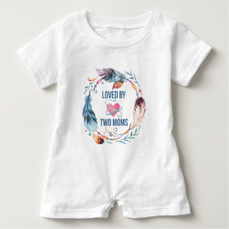 Loved By Two Moms Bohemian Baby Romper