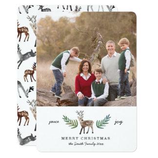 "Loved Dearly 1 Photo Holiday 5"" X 7"" Invitation Card"