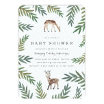 """Loved Dearly Baby Shower 5"""" X 7"""" Invitation Card"""