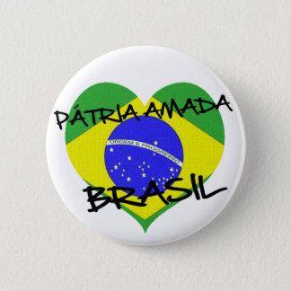 Loved native land Brazil 2 Inch Round Button
