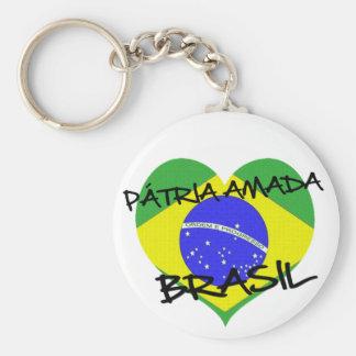 Loved native land Brazil Basic Round Button Keychain