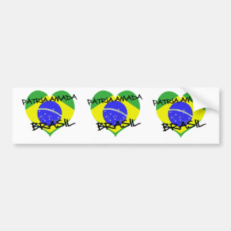 Loved native land Brazil Bumper Sticker