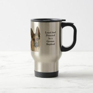 Loved & Protected by a German Shepherd Travel Mug