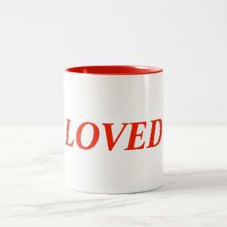 LOVED Two-Tone COFFEE MUG