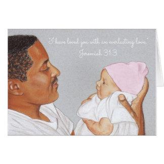 Loved you-Everlasting Love~Scripture~Newborn & Dad Card