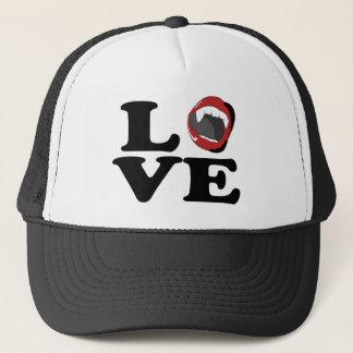 lovefangs trucker hat